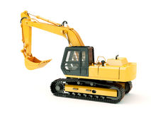 Excavator isolated with light shadow Royalty Free Stock Photos