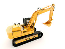 Excavator isolated with light shadow Stock Photo