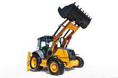 Excavator, isolated on white with clipping path. Excavator isolated on white background with clipping path Stock Photo