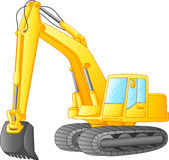 Excavator isolated on white Royalty Free Stock Photography