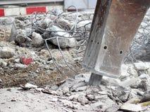 Excavator jackhammer Royalty Free Stock Images