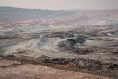 Excavator at the lignite opencast mining Stock Photography