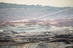 Excavator at the lignite opencast mining Stock Images