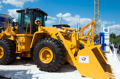 Excavator LIUGONG the exhibition in Moscow, Russia Royalty Free Stock Image