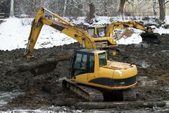 Excavator loader Stock Photography