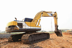 Excavator Loader with backhoe Royalty Free Stock Images
