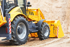 Excavator Loader with backhoe works Stock Images