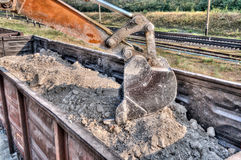 Excavator loader with backhoe works Royalty Free Stock Photography