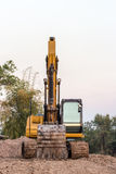 Excavator loader machine during earthmoving Royalty Free Stock Images