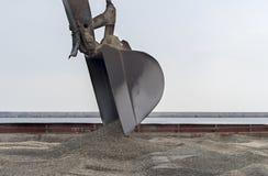 Excavator loader machine at shipyard. Under sunlight Royalty Free Stock Photography