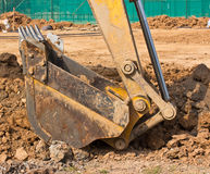Excavator loader machine during works outdoor Royalty Free Stock Photography