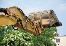 Excavator loader. Part of an excavator loader Stock Photos