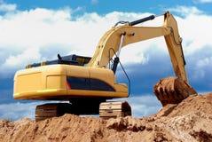 Excavator loader in sandpit Royalty Free Stock Image
