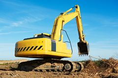 Excavator loader at work Stock Photography