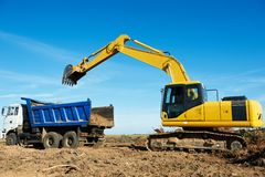 Excavator loader at work Royalty Free Stock Image