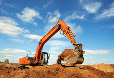 Excavator loader at work Royalty Free Stock Photo