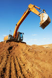 Excavator loader at work Stock Photos