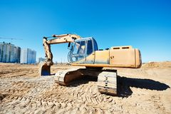 Excavator loader at work Royalty Free Stock Photography