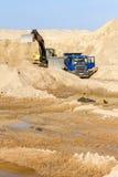 Excavator Loading Dumper Truck Stock Photos
