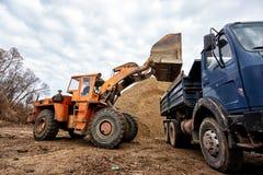 Excavator loading Royalty Free Stock Photos