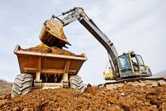 Excavator loading Royalty Free Stock Photo