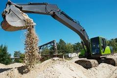 Excavator loading works Stock Photography