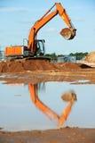 Excavator loading works Stock Image