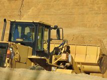 Excavator Loading Sand royalty free stock images