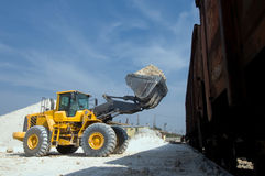 Excavator loads gravel Stock Photography