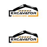 Excavator logo vector illustration