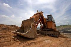 Excavator machine earthmoving Stock Photo
