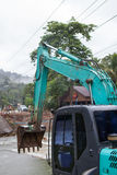 The excavator machine Royalty Free Stock Images