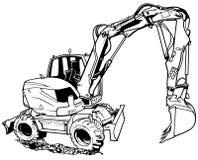 Excavator Machine in Work Stock Photography