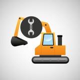 excavator machine wrench tool graphic Stock Images
