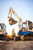 Excavator machines Royalty Free Stock Photo