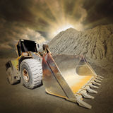 Excavator in the mine. Royalty Free Stock Photos