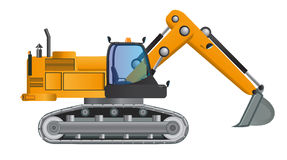 Excavator model vector design with working. Royalty Free Stock Photography