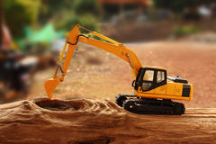 Excavator model Royalty Free Stock Images