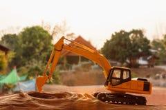 Excavator model Stock Images