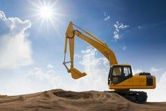 Excavator model Stock Photography