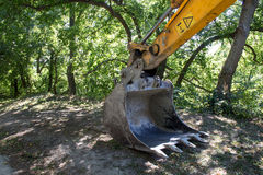 Excavator and a Nature Stock Photography