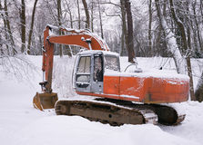 Excavator near Winter Park Stock Images