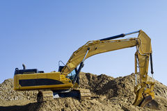 Excavator On Construction Site Royalty Free Stock Image