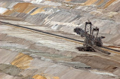 Excavator open cast coal mine. Excavator in open-cast coal mine Stock Photos