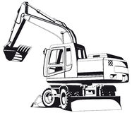 Excavator outline Stock Image