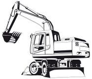 Excavator outline stock image