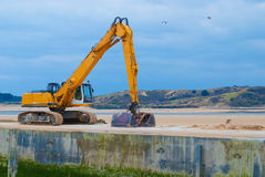 Yellow Excavator. Stock Images