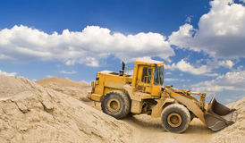 Excavator in quarry Stock Photos