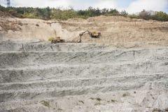 Excavator in quarry Royalty Free Stock Photos