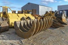 Excavator rakes Royalty Free Stock Photography